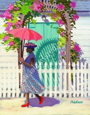 76 Arbor Painting Of Caribbean Woman Shari Erickson