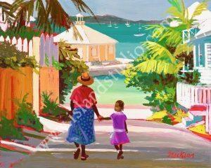 87 Briland Dock Print By Caribbean Artist Shari Erickson
