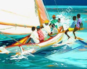 99 Bye Bye Coastal Painting By Shari Erickson