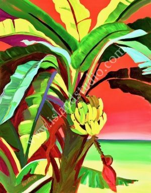 175 Bananas Tropical Landscape Painting By Shari Erickson