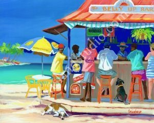 77 Belly Up Caribbean People Painting By Shari Erickson