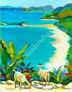 36 Blue Bay View Seascape Painting By Shari Erickson