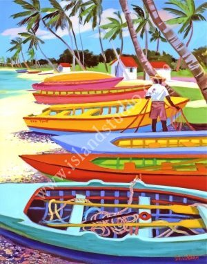 Boatyard Oil Painting By Shari Erickson