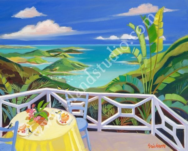 358 Brunch Seascape Painting By Tropical Artist Shari Erickson