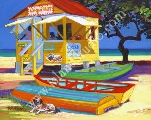 373 Coqui Hut Coastal Oil Painting By Shari Erickson