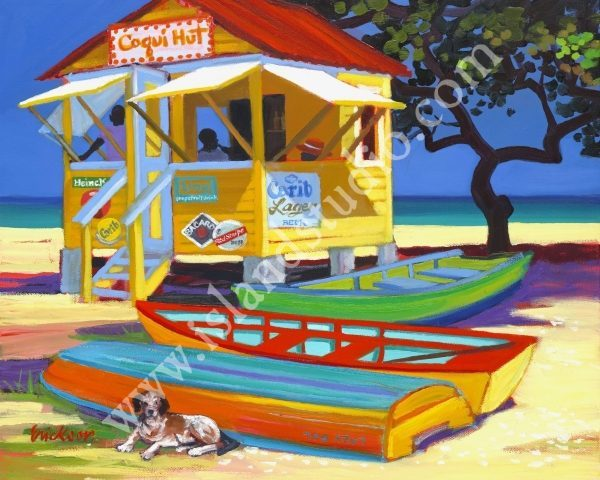373 Coqui Hut Coastal Oil Painting By Shari Erickson