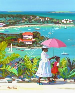 32 Cruz Bay Coastal Painting By Shari Erickson