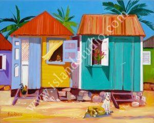 354 Chattel Row Caribbean Painting By Shari Erickson
