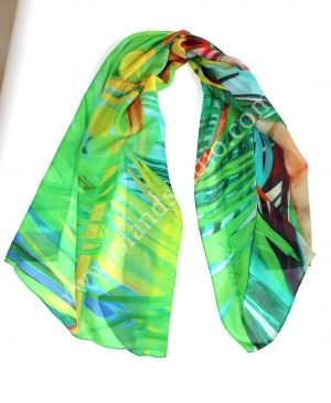 Coco Palm $59.00 Tropical Scarf By Shari Erickson