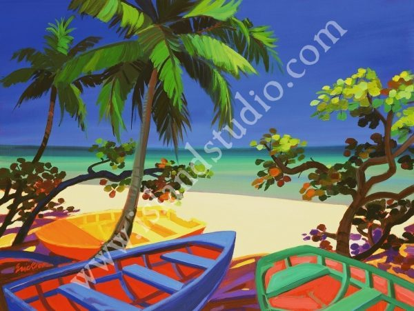 39 Seagrape Bay Tropical Seascape Painting By Shari Erickson