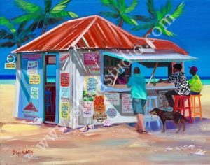535 Dis We Place Tropical Painting By Shari Erickson