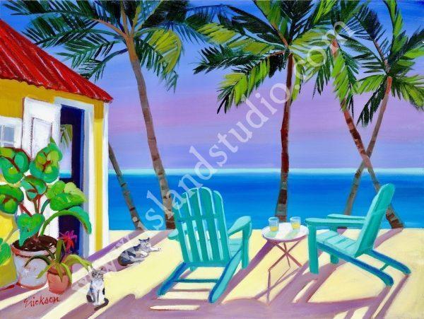 504 Freetime Caribbean Landscape By Shari Erickson
