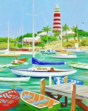313 Hopetown Seascape Painting By Shari Erickson