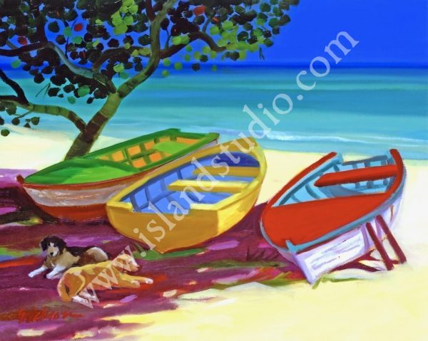 385 Lazy Beach Caribbean Oil Painting By Shari Erickson