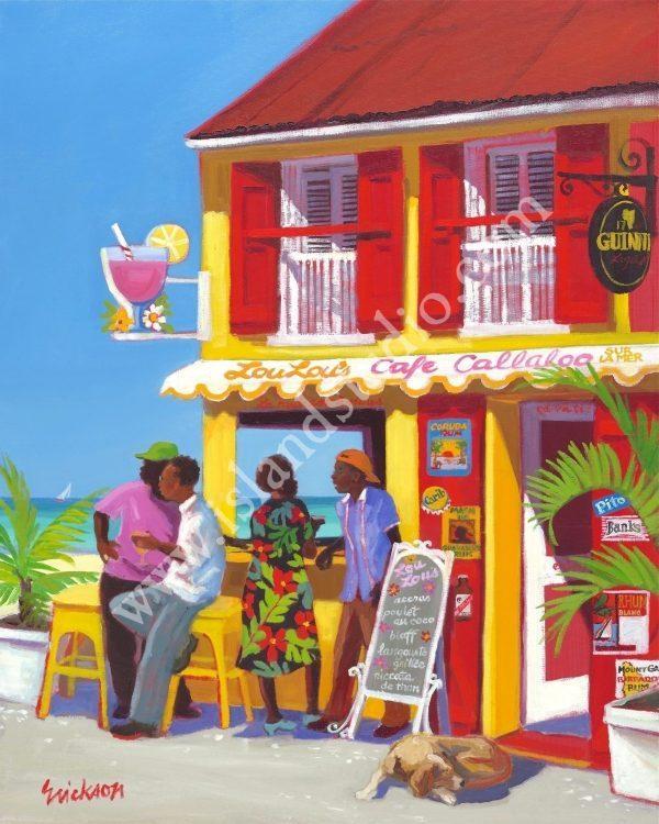 363 Lou Lou's Oil Painting By Shari Erickson